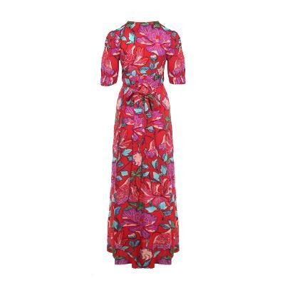 exotic mood flower long dress